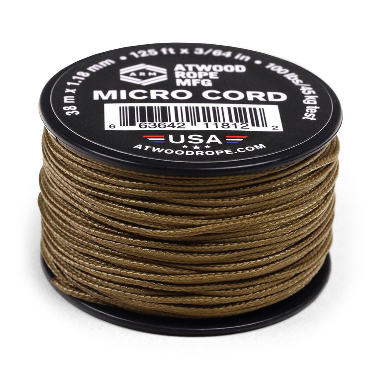 Atwood Rope MFG 1.18mm Micro Cord 125ft - Coyote