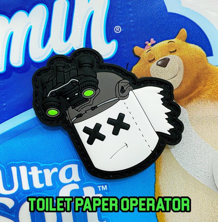 Dump Box Dangerous Goods Toilet Paper Operator PVC Morale Patch