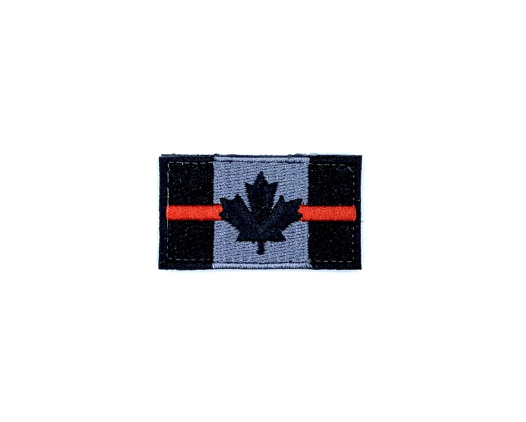 DST Small Canadian Flag Patch - Thin Red Line