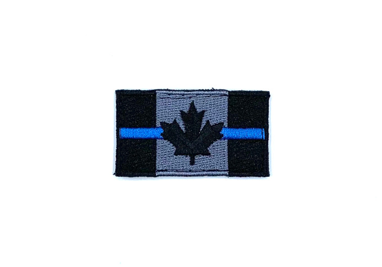 DST Small Canadian Flag Patch - Thin Blue Line