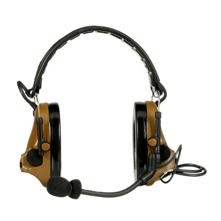 3M Peltor ComTac V Headset MT20H682FB-47 CY, Foldable, Single Lead, Standard Dynamic Mic, NATO Wiring, Coyote