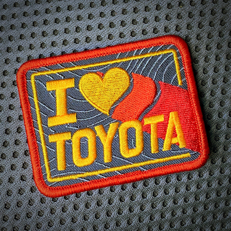 """PS Patch Designs I HEART TOYOTA """"Nod to Ivan Stewart"""" Patch"""