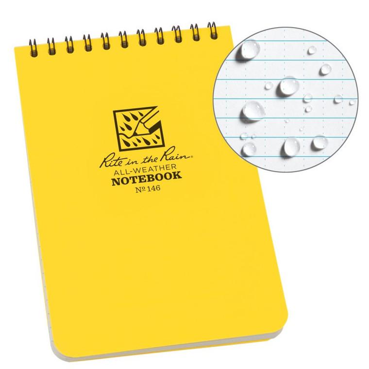 "Rite In The Rain 4"" x 6"" Universal Pattern Top Spiral Notebook"