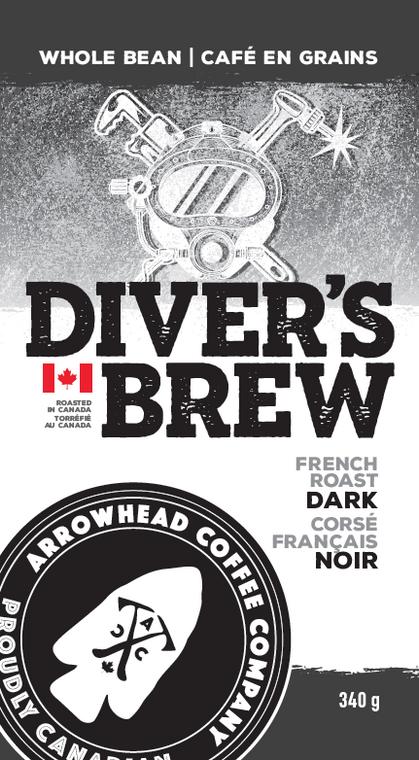 Arrowhead Coffee Company French Roast Dark Coffee - Diver's Brew   340g