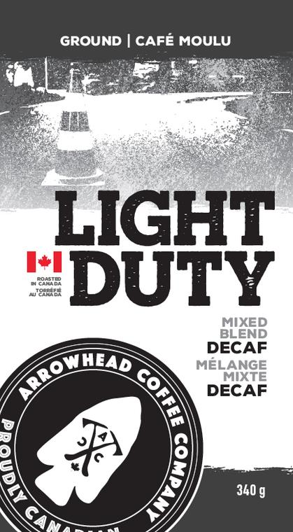 Arrowhead Coffee Company Light Duty Mix Blend Dark DECAF Coffee   340g