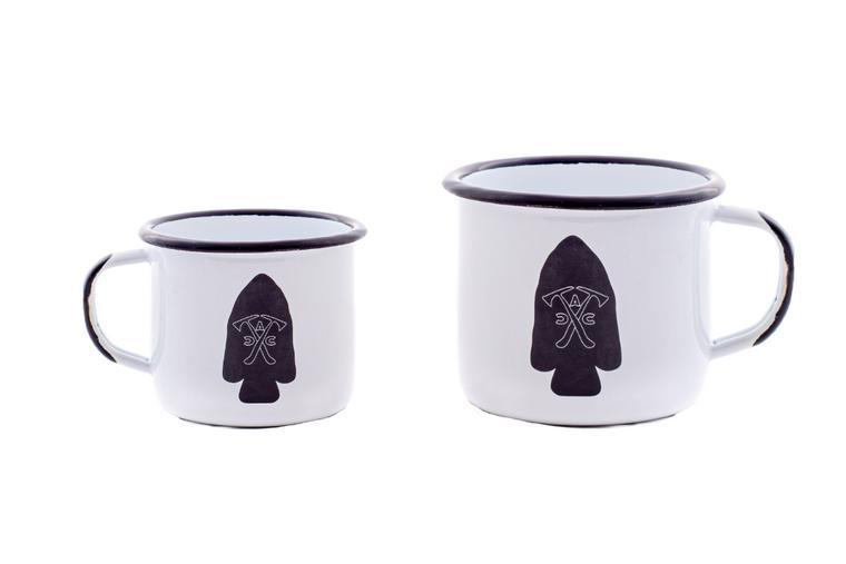 Arrowhead Coffee Company Classic Logo Enamel Stainless Steel Mugs