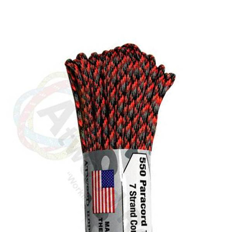 Atwood Rope MFG 550 Paracord 100ft - Lava