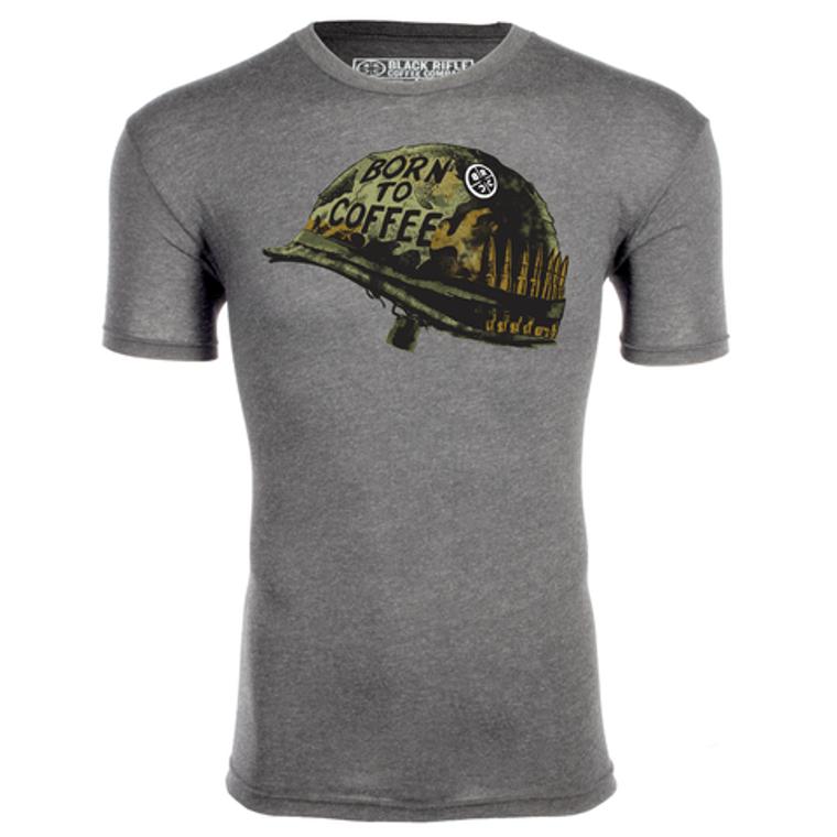 Black Rifle Coffee Company Born To Coffee T-Shirt - Premium Heather Gray