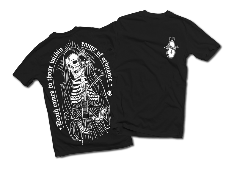 Cleared Hot Co. Death Comes to Those Within Range T-Shirt