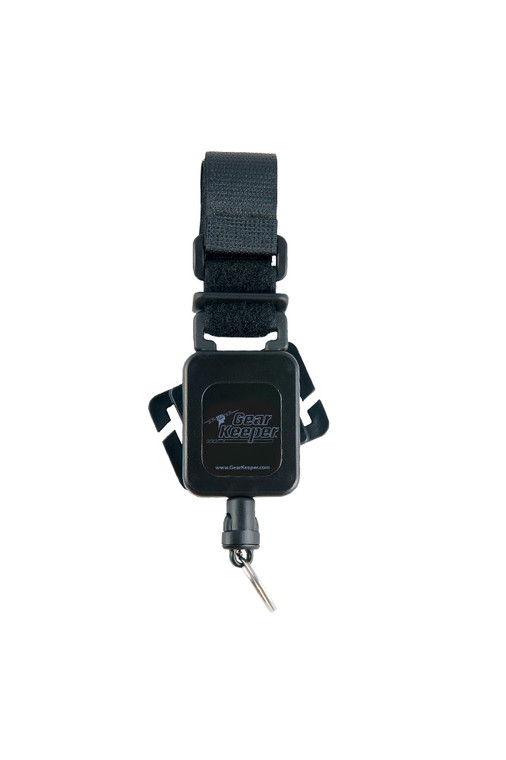 Gear Keeper Gear Tether - Combo MOLLE Mount Black (Rotating/Velcro)