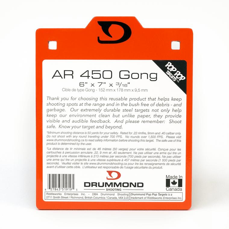 "Drummond Shooting AR450 Steel Gong - 6""x7"""