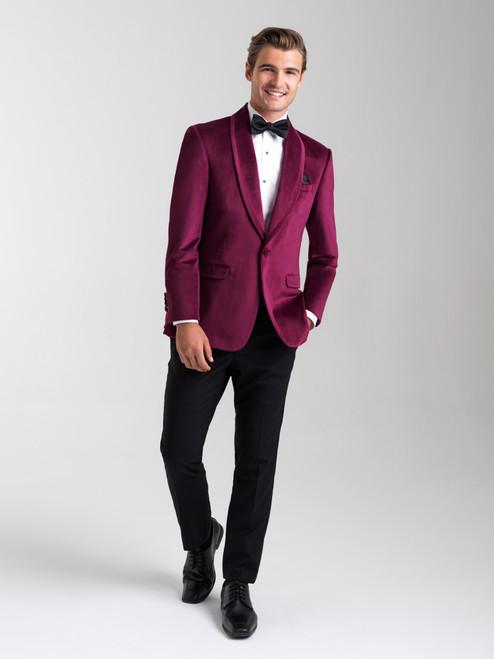 AM154 - Cranberry Men's Slim Coat