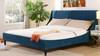 Aspen Upholstered Platform Bed, King, Satin Teal