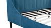 Aspen Upholstered Platform Bed, Queen, Satin Teal