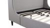 Gia Wingback Platform Bed, King, Light Grey