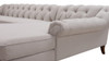 Alexandra Tufted Right Sectional Sofa, Bone White