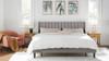 Aspen Upholstered Platform Bed, King, Opal Grey