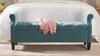 Jacqueline Tufted Roll Arm Storage Bench, Arctic Blue