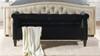 Jacqueline Tufted Roll Arm Storage Bench, Black