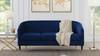 Avri Modern Tuxedo Sofa, Navy Blue