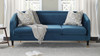 Avri Modern Tuxedo Sofa, Satin Teal
