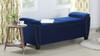 Jolene Flip Top Storage Bench Nailhead Trim, Navy Blue
