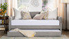 Kirk Upholstered Trundle Daybed, Silver Grey