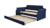 Kirk Upholstered Trundle Daybed, Midnight Blue