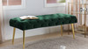 Stevens Mid-Century Modern Tufted Bench, Hunter Green