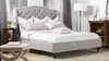 Coverley Tufted Wingback Platform Bed, Queen, Silver Grey