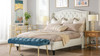 Coverley Tufted Wingback Platform Bed, Queen, Antique White