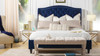 Coverley Tufted Wingback Platform Bed, Queen, Navy Blue