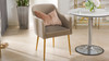 Ivy Mid-Century Modern Accent Desk Chair, Mink