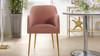 Ivy Mid-Century Modern Accent Desk Chair, Blush Pink