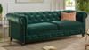 Winston Tufted Chesterfield Sofa, Forest Green