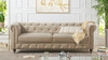 Winston Tufted Chesterfield Sofa, Mink