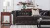 """Winston 91"""" Tufted Chesterfield Sofa"""