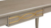 Dauphin Gold Accent Console Vanity Table, Grey Cashmere