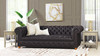 """Baron 91"""" Genuine Leather Chesterfield Sofa, Rich Brown"""