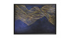 """Abstract Waves Solid Wood Frame Wall Art, 54""""x 34"""""""