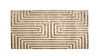 Maya Meander Cashmere Area Turkish Rug, Gold, 6.5' x 9.5'