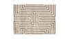 Maya Meander Cashmere Area Turkish Rug, Cream White & Bronze Brown, 6.5' x 9.5'