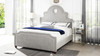 Flora Tall Keyhole Panel Headboard Bed, Queen, Silver Grey