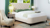 Robyn Tufted Curved Back Headboard Panel Bed, Queen, Sky Neutral