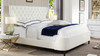 Robyn Tufted Curved Back Headboard Panel Bed, King, Antique White