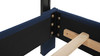Flora Tall Keyhole Arch Panel Headboard Bed, Queen, Midnight Blue
