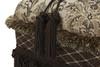 Cassandra Traditional Decorative Ottoman, Chenille, Brown