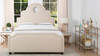 Flora Tall Keyhole Arch Panel Headboard Bed, Queen, Sky Neutral