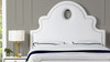 Flora Tall Keyhole Arch Panel Headboard Bed, Queen, Bright White