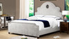 Flora Tall Keyhole Arch Panel Headboard Bed, King, Silver Grey
